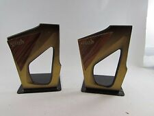 Estate OLD vintage Mid century modern Dayagi brass bookends Israel Nice set
