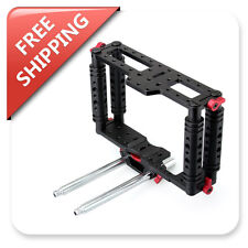 Kamerar TK-2 Camera Video Cage Stabilizer Rig w/15mm Rods Holder Block