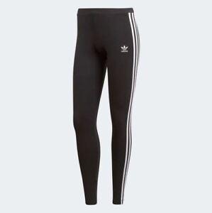 Adidas Originals Women's 3 STRIPES Leggings Black/White CE2441 d