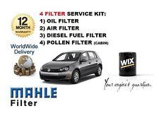 Per VW Golf 1.6dt TDI mk6 2009 - > KIT Di Servizio Olio Aria Carburante Polline Filtro impostato