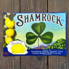 Vintage Original SHAMROCK LEMON CITRUS FRUIT CRATE Box Label Unused NOS