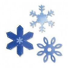 20 WATER SLIDE NAIL  DECALS TRANSFERS CHRISTMAS SNOW FLAKES 3 BLUE