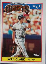 1988 AMERICAN BASEBALL WILL CLARK GIANTS Baseball Card