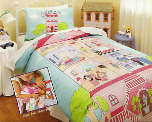 MY DOLLHOUSE Single Bed Quilt / Doona Cover Set NEW BNIPack