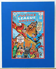 JUSTICE LEAGUE 137 Pin up poster 1978 DC SHAZAM MATTED