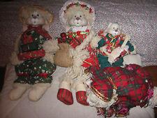CHRISTMAS RABBIT FAMILY SET OF 4 PORCELAIN