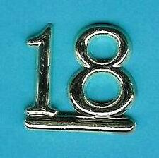 GOLD 18 NUMBERS / NUMERALS (Pk of 6) CAKE DECORATION / CARD MAKING