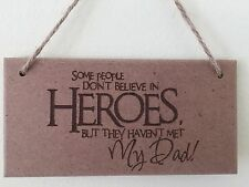 Fathers Day Hero Wooden Plaque daddy dad gift personalised Christmas present