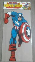 Poster Marvel super hero CAPTAIN AMERICA (2) 40X23 CM CARTONE VINTAGE 1979 MINT