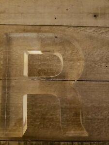 CUTE !!!Decorative Letter R - Clear, Lucite / Acrylic