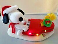 Peanuts Snoopy Woodstock Piano Musical Plush Christmas Hallmark Motor Noise
