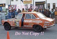 Dunkerton & Watson Peugeot 504 Ti London to Sydney Rally 1977 Photograph