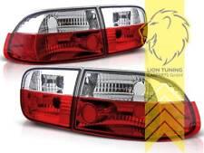 Rückleuchten Heckleuchten für Honda Civic 5 Limousine Coupe rot weiss chrom