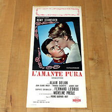 L'AMANTE PURA locandina poster affiche Romy Schneider Alain Delon Christine D45