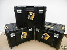 3  X  DEWALT LARGE 23L TSTAK DEEP STORAGE CARRYING TOOL CASES  WITHOUT TOTE TRAY
