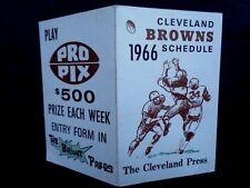 1966 Cleveland Browns NFL Football Schedule, Press