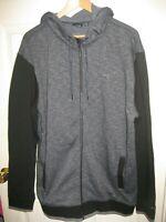 Vans Men's Full Zip Up Hoodie Sweater Gray Black Size XL