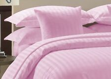 PINK STRIPED DUVET SET + FITTED SET ALL SIZES 1000 TC EGYPTIAN COTTON