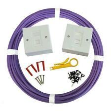 100m Cat6 Internal LSOH Socket to Socket Outlet Extension Network Kit Face Plate