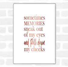 Rose Gold Memories Sneak Out Quote Jumbo Fridge Magnet
