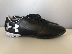 S35 Under Armour Magnetico Black Soccer Turf Shoes Youth Size 5