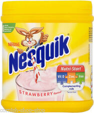 NESQUIK STRAWBERRY FLAVOUR MILKSHAKE POWDER...BIG 500G TUB!