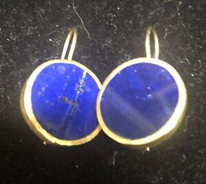Nava Zahavi Lapis 24k Gold Wrapped Earrings