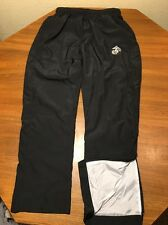 Sport Tek Mens S Sweat Pants Wind Running Track Lined Black Polyester Marines