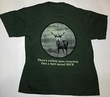 The Mountain Deer Buck Funny Green Hunting Target Animal Adult Cotton Shirt M