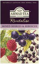 New !  20 Foil Tea bags Ahmad Tea Mixed Berries & Hibiscus  Black Tea