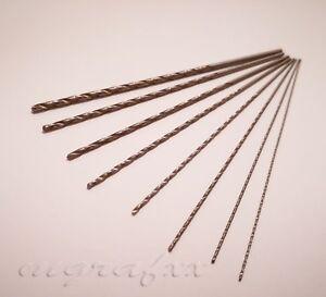 1x  extra long ( 120mm ) micro mini metric HSS drill bits 0.7mm -2.5mm drills