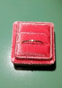 zarter Diamantring 585 Gelbgold kleiner Diamant Vorsteckring ca Gr 50/51 oder 16