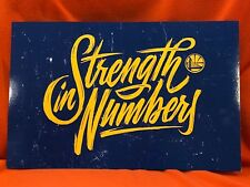 Cheer Card Golden State Warriors Strength In Numbers Western Finals 2018 New SGA
