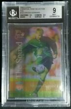 2000 Futera Fans Selection Steven Gerrard Rookie Card RC BGS 9 Mint Rare Foil SP