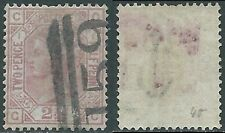 1873-80 GREAT BRITAIN USED SG 139 2 1/2d ROSY MAUVE PLATE 1 (GC) - RC56-8