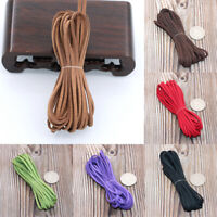 3mm Macrame Braided Faux Suede Cord Leather DIY Craft Flat Thread String Rope