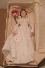 Limited Edition Bisque Bride Doll by E-Van 1985 Doll Symposium Raleigh Nc!