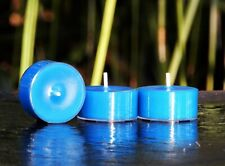10pk 120hr/pack Blue DRIFTWOOD & COCONUT Scented NATURAL SOY TEA LIGHT CANDLES