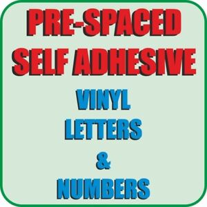 Vinyl Letters, Lettering for Shops, Cars, Taxi, Window, Wall PRE-SPACED