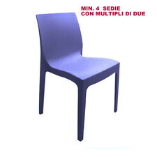 SEDIA ROME IMPILABILE IN POLIPROPILENE GRAND SOLEIL COLORE BLU AVIO
