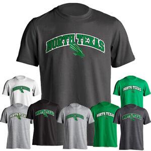 North Texas UNT Mean Green Classic Arch Mascot Logo Short Sleeve T-Shirt