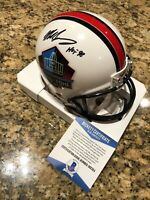 Mike Singletary Signed Hall Of Fame Riddell Mini Helmet Beckett COA Bears