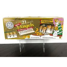 New Vintage Ge 3 Angels Hallmark Collector Series String-A-Long Christmas Lights