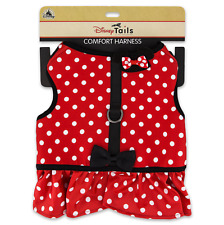 New Disney Parks Tails Minnie Mouse Red Costume Harness for Dog Xl X-Large