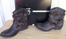 New Directions Brown Biker Demi Boots Shoes Women's size 7.5 M   New  7 1/2  $69