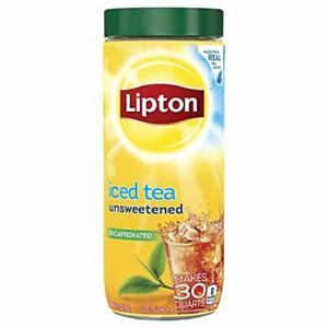 Lipton Black Iced Tea Mix Decaffeinated Unsweetened 30 qt Pack of 6