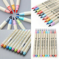 Kids Multi-color Calligraphy Drawing Write Marker Brush Pen Chinese Drawing Art