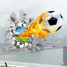 Wandtattoo Wandsticker Wandaufkleber Kinderzimmer brennender Fußball 3D Junge