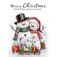 Wild Rose Studio Clear Stamp New Christmas 2016 - Snowman Family CL496
