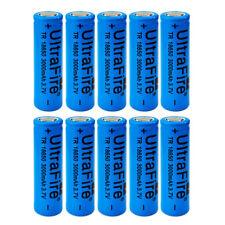 10pcs 3000mah 3.7V 18650 Rechargeable Li-ion Flat Top Battery Flat Head For Vape